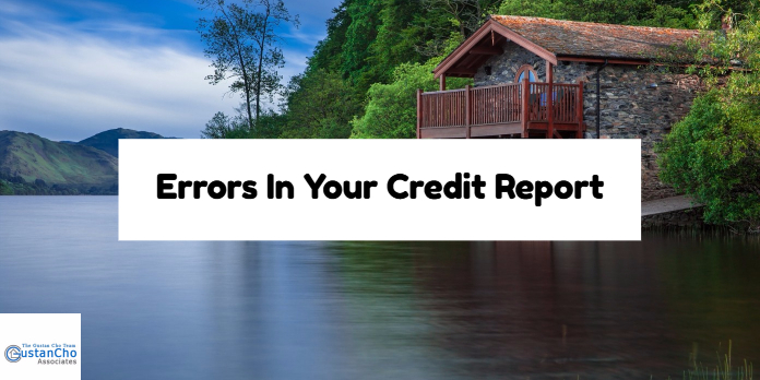Errors In Your Credit Report