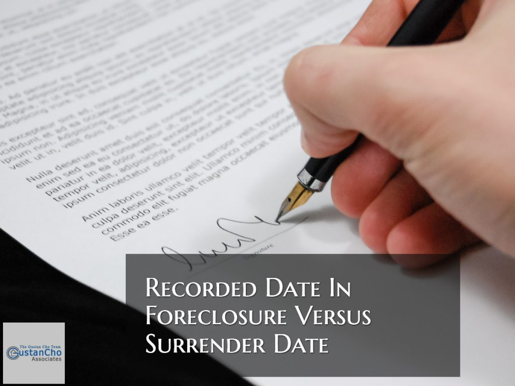 Recorded Date In Foreclosure