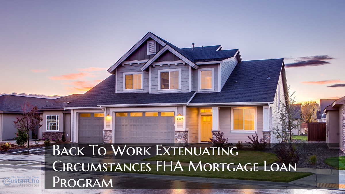 Back To Work Extenuating Circumstances FHA Mortgage Loan