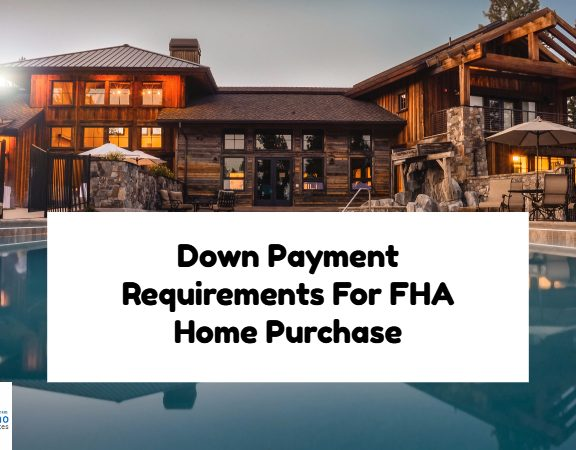 Down Payment Requirement For FHA Home Purchase