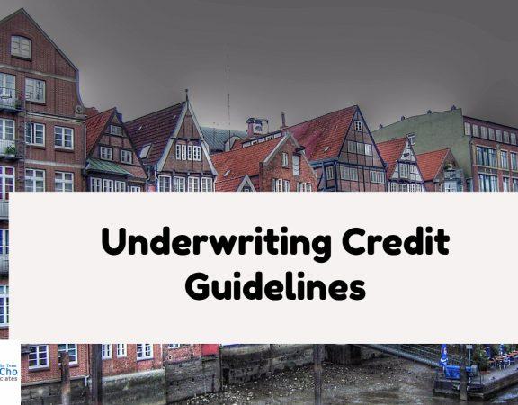 Underwriting Credit Guidelines