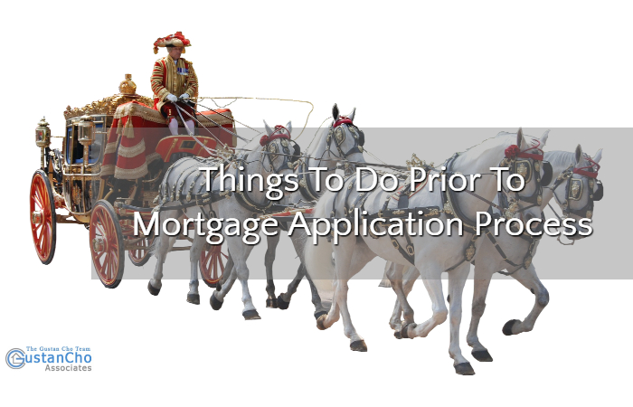 Things To Do Prior To Mortgage Application Process