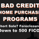 Home Purchase With Bad Credit