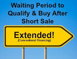 Conventional Loan After Deed In Lieu And Short Sale Extended To 4 Years