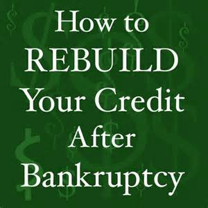 Re-Establishing Credit After Bankruptcy