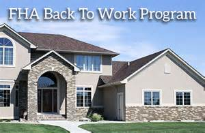FHA Back To Work Extenuating Circumstances Mortgage
