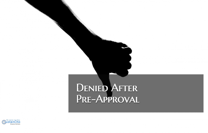 Mortgage Denied After Pre-Approval