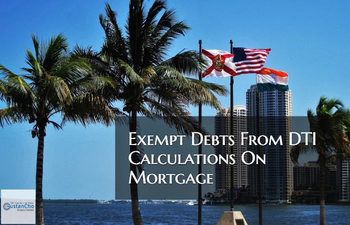 Exempt Debts From Debt To Income Ratio