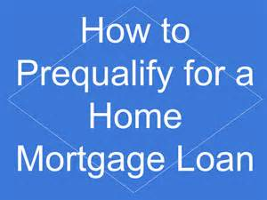 Qualifying For Mortgage Loan
