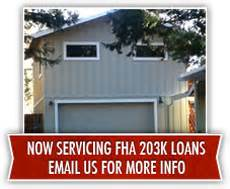 California FHA 203k Loans