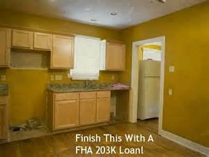 Refinance With FHA 203k Rehab Loan