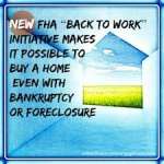 FHA Back To Work Mortgage Experience By Bob Vogel
