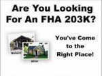 Refinancing With A FHA 203k Loan