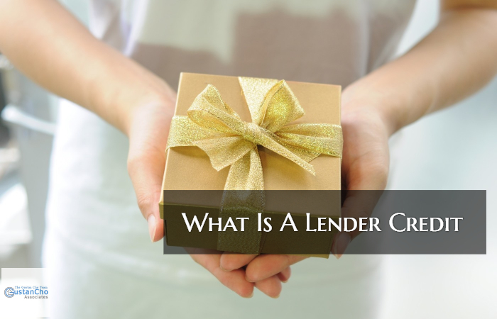 What Is A Lender Credit