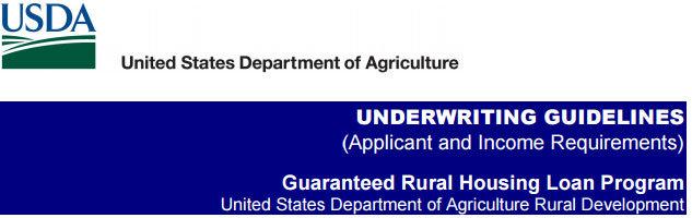 USDA Undewriting Guidelines