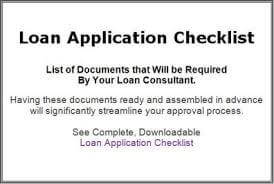 Loan Officer Document Checklist