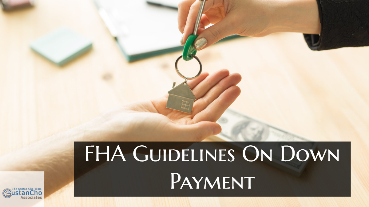 What are the FHA guidelines for advance payment 3.5% advance payment