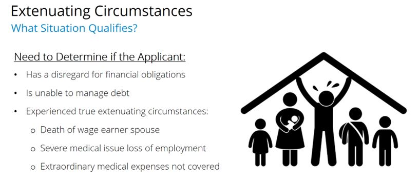 Extenuating circumstances What Situation Qualifies?