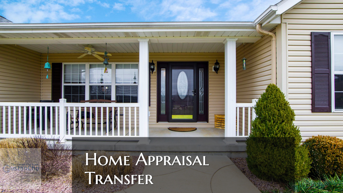 Home Appraisal Transfer From One Mortgage Lender To Another Lender