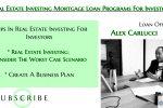 Real Estate Investing Mortgage Loan Programs For Investors