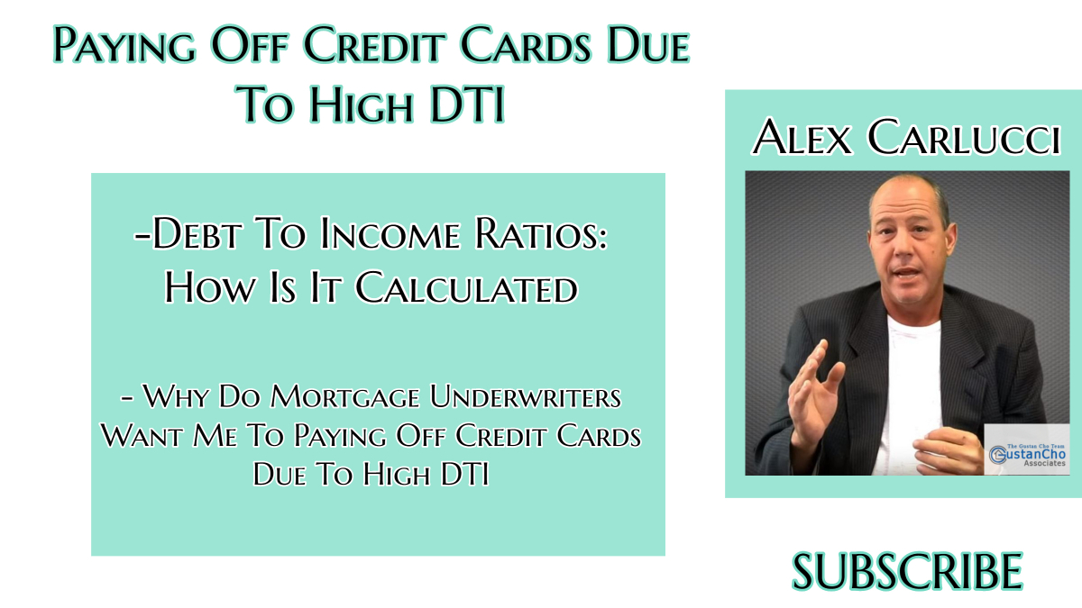Paying Off Credit Cards Due To High DTI And Boost Credit Scores