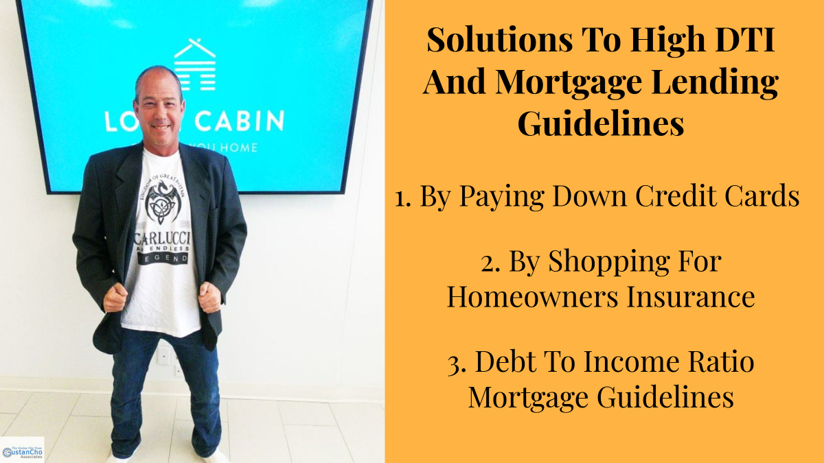 Solutions To High DTI And Mortgage Lending Guidelines