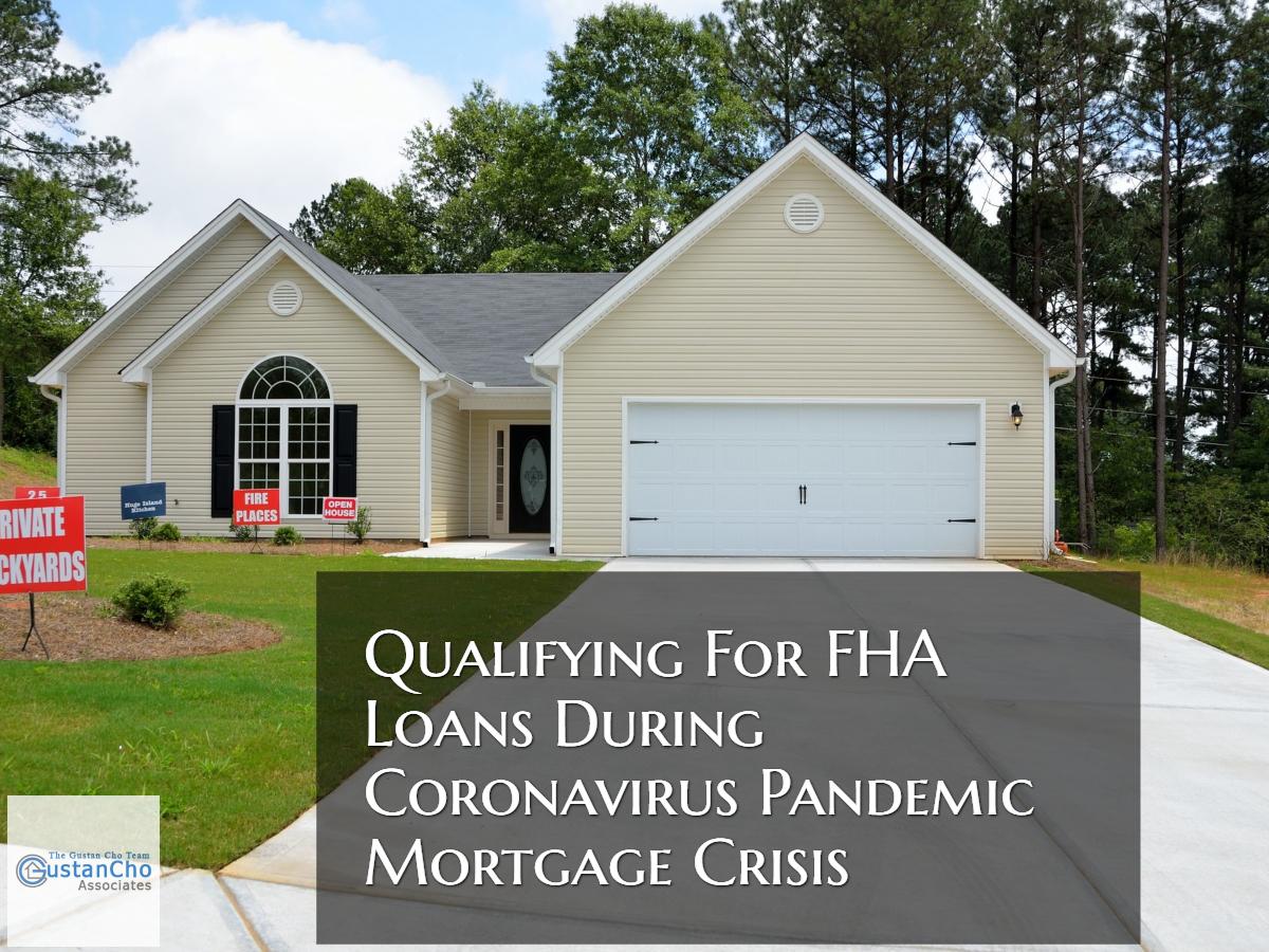 FHA Loans During Coronavirus Pandemic