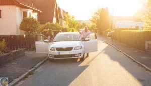 What are the parking considerations when buying a house on the main road