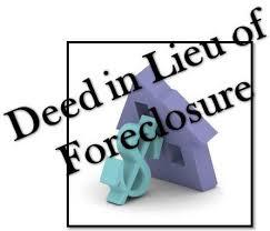 Deed In Lieu Of Foreclosure Versus Foreclosure