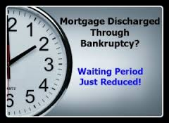 Waiting period after bankruptcy and foreclosure